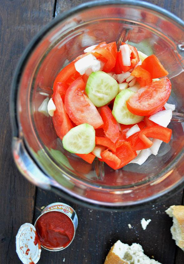 Gazpacho sin pan para adelgazar